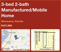 3-bed 2-bath Manufactured/Mobile Home in Wimauma, Florida ►$167,900 #PropertyForSale #RealEstate #Florida http://florida-magic.com/properties/5072-manufactured-mobile-home-for-sale-in-wimauma-florida-with-3-bedroom-2-bathroom