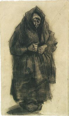 Vincent van Gogh: Woman with a Mourning Shawl,  Nuenen: May-June, 1885 (Amsterdam, Van Gogh Museum)  F 1197, JH 817