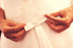 Wedding dress detail...