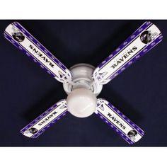 "Ceiling Fan Designers NFL Baltimore Ravens Football Ceiling Fan: 42"""