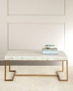 $4500 tie the slab in John-Richard Collection Cissy Calcite Coffee Table