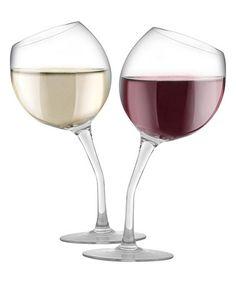 Loving this Tipsy Wine Glass Set on #zulily! #zulilyfinds