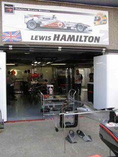 Lewis Hamilton Garage 2010 Canadian GP Pit Lane (Photo by: Jose Romero Lopez)