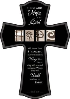 HOPE PHOTOGRAPHY CROSS LARGE ISAIAH 40:31 17 IN H X 12 IN W $38.00 Religious Cross, Religious Gifts, Celtic Cross Tattoos, Isaiah 40 31, Cute Clay, Wood Crosses, Infant Loss, Christian Gifts, Amazing Grace
