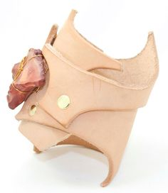 Organica Collection No 1 Leather Cuff by LeatherCoutureLV on Etsy, $75.00