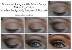 Brown smoky eye makeup look & tutorial, created using Urban Decay palette. Hazel Eye Makeup, Bright Eye Makeup, Dark Eye Makeup, Subtle Makeup, Smoky Eye Makeup, Natural Eye Makeup, No Eyeliner Makeup, Eye Makeup Tips, Makeup Ideas