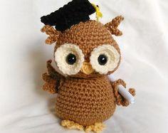 Newton the Graduation Owl; CROCHET PATTERN; PDF