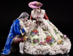 Volkstedt, Dresden Porcelain Manufactory (Germany) — Couple (900x695)