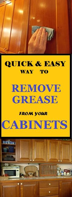 quickly remove built up grease from your wooden cabinets without damaging your surface #cleaning #cleaninghacks #cleaningtips #cleaningtricks #home #hacks #cabinet
