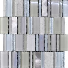 On trend dimensions combined with elegant blue grey mix of stone, glass and metal make this tile a real winner. Boutique tiles at cheap internet prices Cheap Internet, Internet Prices, Grey And Beige, Blue Grey, Pantone Colours, Feature Tiles, Glass Mosaic Tiles, Year 2016, Color Of The Year