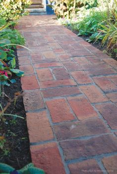 The Clay Pavers Collection enables even small spaces to be stylish and classic as well as creating circles and smaller feature areas within a larger patio. Brick Driveway, Brick Path, Brick Paving, Paver Path, Garden Arbor, Garden Edging, Garden Paths, Back Gardens, Outdoor Gardens