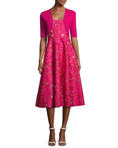 Classic+Knit+Shrug,+Pink+and+Matching+Items+by+Lela+Rose+at+Neiman+Marcus.