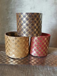 #leather cuffs# with gold foiling#beautiful