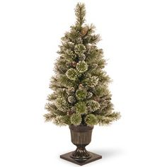 National Tree Co. 4' Sparkling Pine Artificial Christmas Entrance Tree