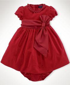 Ralph Lauren Baby Dress, Baby Girls Corduroy Party Dress - Kids Baby Girl (0-24 months) - Macy's