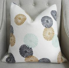Decorative Designer pillow cover - 20X20 - Lee Jofa Groundworks Kasa Linen in Bronze - Pattern on the front