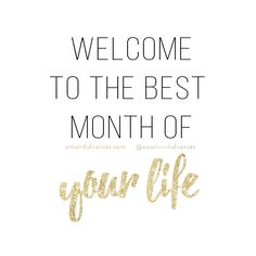 Welcome to the Best Month of Your Life. <3 How good is the first day of a new month?! On the first of each month – I like to set my intentions. I like to discuss with God where I am at, what I am confused about, what I am thankful for and what I desire. And then I get clear. I create one or two specific goals that I will focus on all month. If I don't do this, I feel cluttered and confused and don't know what to focus my efforts and energy on within any given day. I enco...