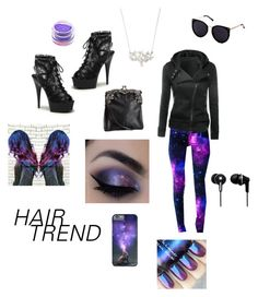 """""""Galaxies"""" by jessiestarman ❤ liked on Polyvore featuring beauty, Pinup Couture, WithChic, H&M, Panasonic and Medusa's Makeup"""