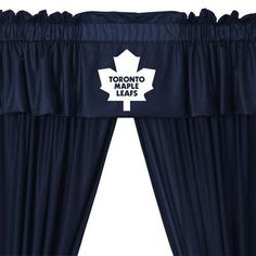 NHL Toronto Maple Leafs 5pc Curtains And Valance Set 63drop