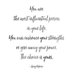 """""""You are the most influential person in your life. You can embrace your strengths or give away your power. The choice is yours."""" ~ Gary Hopkins 💪🏼🖤  .  .  .  .  .  #garyhopkins #garyhopkinsquotes #blackquotes #quotes #quotes #quoteoftheday #qotd #powerquotes #confidence #inspiration #power #personalpower #empowerment #sovereignty #selfcare #selflove"""
