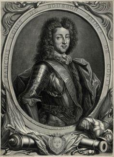 Prince François-Louis de Bourbon-Conti, Comte de La Marche et de Clermont, Prince de La Roche-sur-Yon, puis 4e. Prince de Conti (1664 - 1709). Frère et succésseur de Louis-Armand I de Bourbon-Conti en 1685, mort de la petite vérole et sans enfants. En 1688 il épousa la fille de son cousin le Prince Henri-Jules de Bourbon-Condé, Marie-Thérèse, dont il eut 7 enfants.
