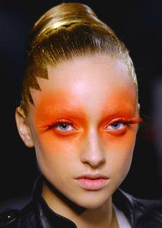 Neon orange make up