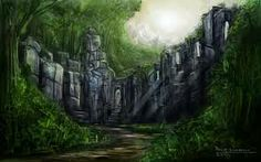 Jungle Temple by Gurbatchoff on DeviantArt Jungle Temple, Deviantart, Reuse, Painting, Fantasy, Google Search, Naturaleza, Painting Art, Paintings