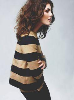 Stella McCartney Beige and black stripes