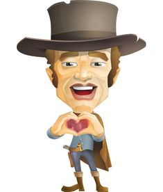 This Stock Cowboy Man Cartoon Vector Character comes in complete set of different action poses.