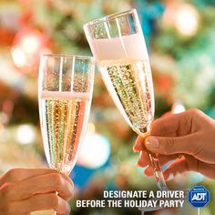 Attending a #holiday gathering? Plan ahead and never let an impaired friend behind the wheel. #DontDrinkAndDrive #StaySafe #DrivingSafety #ADT