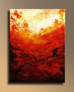 Modern Abstract PAINTING Textured Contemporary Fine Art with Lava Colors wall decor for your home