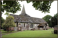 St. George's church, West Grinstead, Sussex, England.  Burial place of Philippa Strathbogie Halsham, Mike's 18th gg.