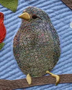 Feather stitching - by Sashiko machine!