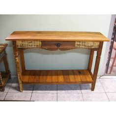 Aparador Rustico 1,20 x 0,35 -2345 Decor, Furniture, Wood, Pallet, Woodworking, Home, Deco, Table, Entryway Tables