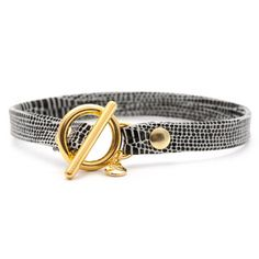 Leather Toggle Bracelet Silver, $20,  Fab.