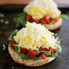 Open-Faced Bagel Breakfast Sandwich