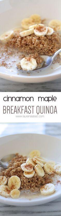 Microwave Cinnamon Maple Breakfast Quinoa Quinoa Breakfast, Breakfast Bowls, Breakfast Recipes, Breakfast Ideas, Banana Breakfast, Savory Breakfast, Sweet Breakfast, Breakfast Dessert, Perfect Breakfast