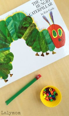Eric Carle Book Activity to pair with the Very Hungry Caterpillar. Use it to work on fine motor skills, literacy, math skills, social skills and more! Bonus- Eric Carle App Review!