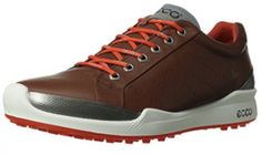 ECCO Men's Biom Hybrid Golf Shoe Anatomically-shaped insole unit Water-repellant upper 150 molded traction bars keep you poised and confident from the tee to the green in this sophisticated golf shoe from ECCO. Cheap Sneakers, New Sneakers, Casual Sneakers, Best Golf Shoes, Best Sports Watch, Best Gloves, Golf Shop, Oxford, Golf Fashion