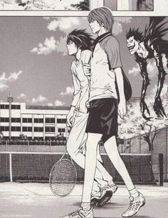 Death Note| Just two normal People playing tennis<<< and their pet death omen of doom