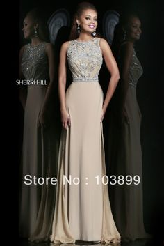 Euro Type A line High Neck Crystals Beaded Red Chiffon Floor Length Modest Prom Dresses Long 2014 Best-in Prom Dresses from Apparel & Accessories on Aliexpress.com