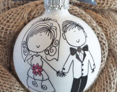 Boy and Dog Ornament Hand Painted Personalized por HappyYouHappyMe