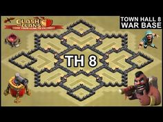 Trophy Base, Pool Coins, Town Hall, Clash Of Clans, Layout Design, War, Places, Sweet, Youtube