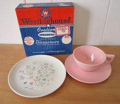 vintage Westinghouse Ovation Series Melmac snack set NEW in box
