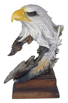 StealStreet Bald Eagle Head Bust Statue with Feather on Wood Base 12 -- Be sure to check out this awesome product. Eagle Head, Bald Eagle, Eagle Pictures, Animal Pictures, Eagle Statue, Wood Carving Art, Wood Carvings, Eagle Feathers, Wood Bird