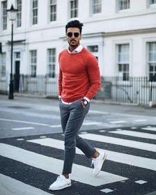 Men casual styles 517562182173348661 - orange outfit -Medium skin tone men style Source by Swag Outfits, Mode Outfits, Casual Outfits, Dress Casual, Casual Shoes, Big Men Fashion, Fashion Mode, Fashion Trends, Mens Fashion Blog