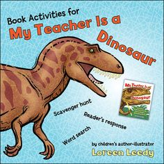 FREE book activities for My Teacher Is a Dinosaur and Other Prehistoric Poems, Jokes, Riddles, & Amazing Facts