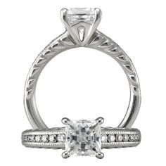 Modern Engagement Ring style 1PC2860