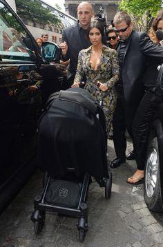 Kim Kardashian et Kanye West à Paris le 23 mai 2014