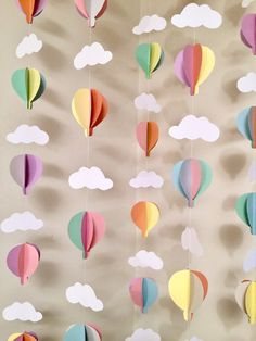 Hot Air Balloon Birthday Decor - Balloon Baby Shower Decor - Pastel Hot Air Balloon Decor - H. - Hot Air Balloon Birthday Decor – Balloon Baby Shower Decor – Pastel Hot Air Balloon Decor – H - Baby Shower Balloon Decorations, Baby Shower Balloons, Birthday Balloons, Birthday Decorations, Shower Centerpieces, Dr Seuss Decorations, Balloon Banner, Balloon Party, Paper Decorations